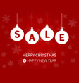 christmas sale display poster w ornaments vector image