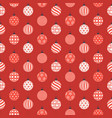 christmas seamless pattern with red and white vector image vector image