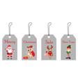 christmas tags for sale vector image