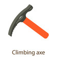 climbing axe icon isometric style vector image