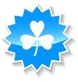 Clover blue icon vector image vector image