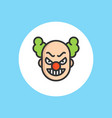 clown icon sign symbol vector image