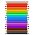 color pencils set multicolor pencil office vector image