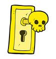 comic cartoon spooky door knob vector image vector image