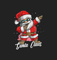 cute santa claus dabbing dance vector image vector image
