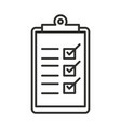 delivery clipboard check mark list logistic line vector image vector image