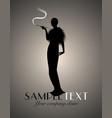 elegant silhouette lady-01 vector image vector image
