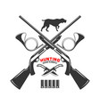 emblem template duck hunting club vector image