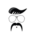 face with mustache portrait vector image vector image