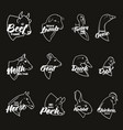farm animal head icon set butchery logo and label vector image vector image