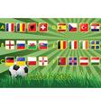 flags european football championship 2016 vector image
