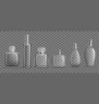 glass bottles with perfumes mockup set stylish vector image vector image