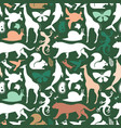 green wild animal icon seamless pattern vector image vector image