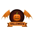 Halloween Badge or Label vector image