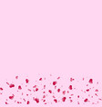 heart falling confetti isolated pink background vector image vector image