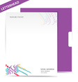 Letter head vector image vector image