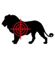 Lion crosslines vector image vector image