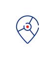 location geotag thin line logo vector image vector image
