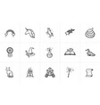 magic and fairytale theme sketch icon set vector image vector image