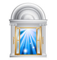 marble door entrance vector image