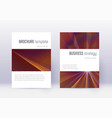 minimalistic cover design template set orange abs vector image