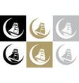 moon boat vector image