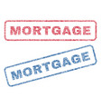 mortgage textile stamps vector image