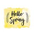 Motivaion poster Hello spring vector image vector image