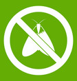 no moth sign icon green vector image vector image