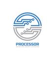 processor cpu - logo template vector image
