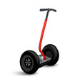 realistic segway icon isolated on white eco vector image vector image