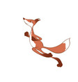 running red fox vector image vector image