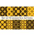 set 10 geometric patterns vector image