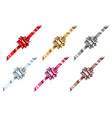set beautiful big shiny bows vector image vector image