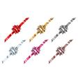 Set of beautiful big shiny bows vector image