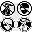 set of danger UFO signs vector image