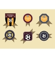 Set soccer football emblems vector image vector image