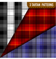 set three tartan plaid samples in vector image