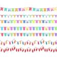 Seven festive horizontal seamless patterns vector image vector image