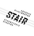 stairs style font vector image vector image