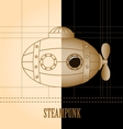 Steampunk vintage background Submarine vector image vector image