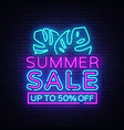 summer sale flyer design template summer vector image