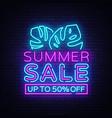 summer sale flyer design template vector image