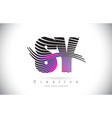 sy s y zebra texture letter logo design with vector image vector image