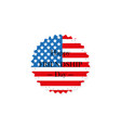 the icon of the american flag with the words vector image