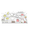 thin line art sleep poster banner template vector image vector image