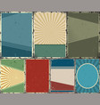 vintage abstract backgrounds collection vector image