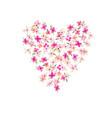 Watercolor flower heart