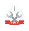 wrench tool to repair service vector image