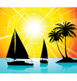 yachts on the ocean vector image vector image